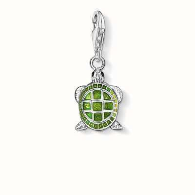 Thomas Sabo Turtle Charm Green 925 Sterling Silver Cold Enamel 0837-007-6