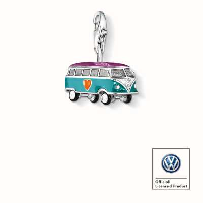 Thomas Sabo Vw Bus * Charm Multicoloured 925 Sterling Silver Cold Enamel 0881-007-7