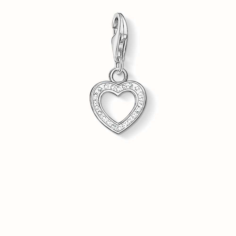 Thomas Sabo Women-Charm Pendant Little Angel Charm Club 925 Sterling silver Zirconia White 1389-051-14 wrAGlYQ1Dg
