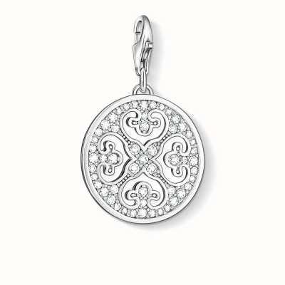 Thomas Sabo Ornament Charm White 925 Sterling Silver/ Zirconia 0993-051-14