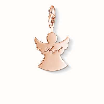 Thomas Sabo Guardian Angel Charm 925 Sterling Silver Gold Plated Rose Gold 1009-415-12