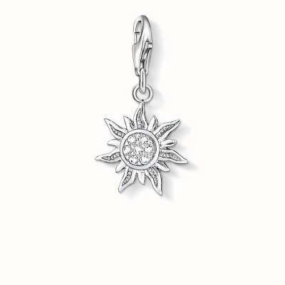 Thomas Sabo Sun Charm White 925 Sterling Silver/ Zirconia 1040-051-14