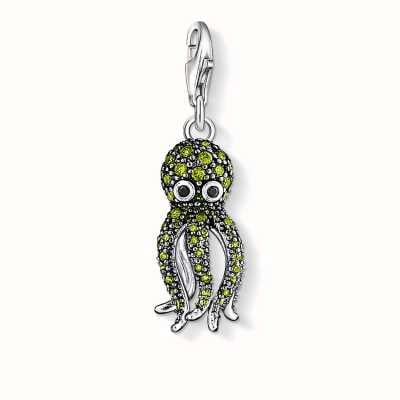 Thomas Sabo Octopus Charm Green 925 Sterling Silver/ Zirconia 1047-051-6