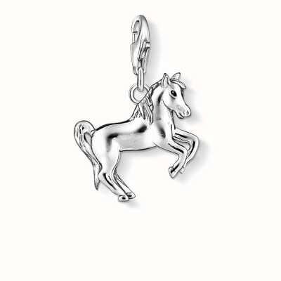 Thomas Sabo Horse Charm 925 Sterling Silver Cold Enamel 1074-007-12