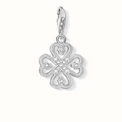 Thomas Sabo Cloverleaf Charm White 925 Sterling Silver/ Zirconia 1103-051-14