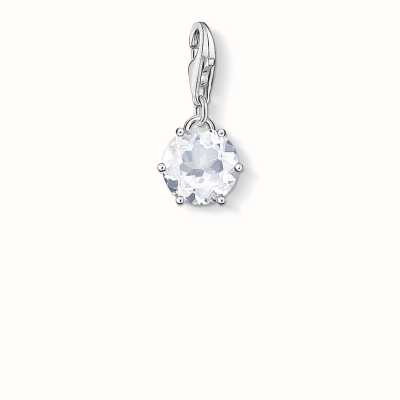 Thomas Sabo April Charm White 925 Sterling Silver/ Rock Crystal 1257-197-14