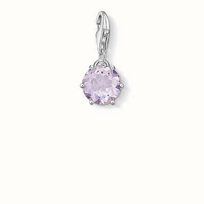 Thomas Sabo June Charm Violet 925 Sterling Silver/ Amethyst 1259-163-13