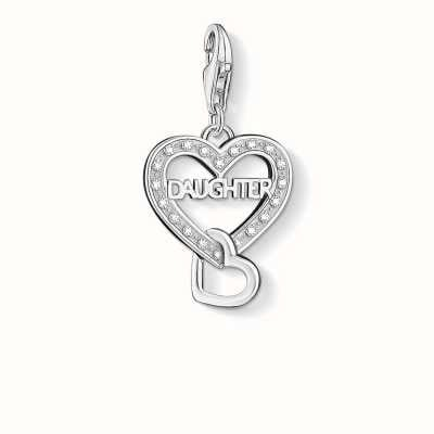 Thomas Sabo Daughter Charm White 925 Sterling Silver/ Zirconia 1267-051-14