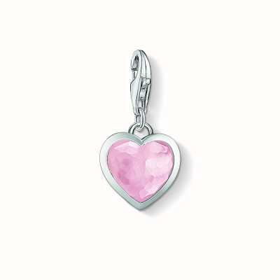 Thomas Sabo Heart Charm Pink 925 Sterling Silver/ Rose Quartz 1361-034-9