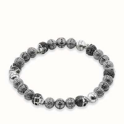 Thomas Sabo Bracelet 19cm Black 925 Sterling Silver/ Zirconia A1177-051-11-L