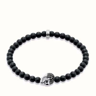 Thomas Sabo Bracelet 19cm Black 925 Sterling Silver/ Obsidian/ Zirconia A1270-159-11-L19