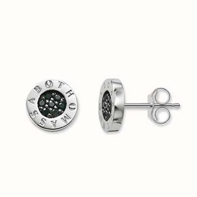 Thomas Sabo Earstuds Black 925 Sterling Silver/ Zirconia H1547-051-11