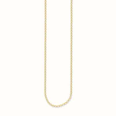 Thomas Sabo Mini Belcher Chain 38/40/42cm Charm Carrier 925 Sterling Silver Gold Plated Yellow Gold KE1219-413-12-L42v