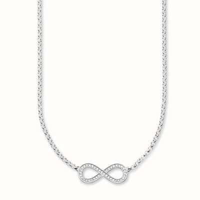 Thomas Sabo Necklace 38/40/42cm White 925 Sterling Silver/ Zirconia KE1312-051-14