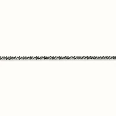 Thomas Sabo Necklace 42cm 925 Sterling Silver Blackened KE1325-637-12-L42