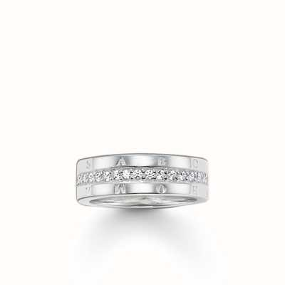 Thomas Sabo Ring White 925 Sterling Silver/ Zirconia TR1701-051-14-56