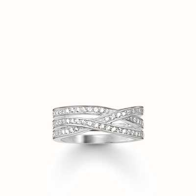 Thomas Sabo Ring White 925 Sterling Silver/ Zirconia TR2012-051-14-54