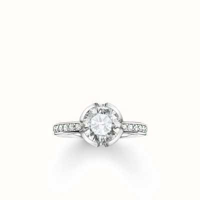 Thomas Sabo Ring White 925 Sterling Silver/ Zirconia TR2035-051-14-56