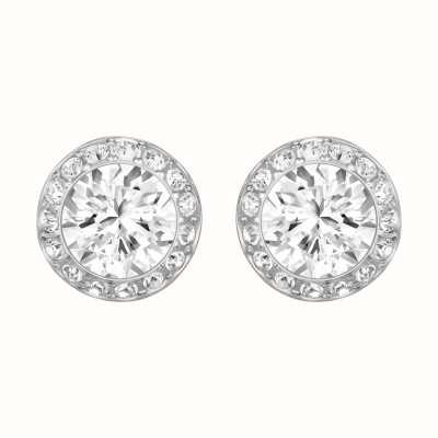 Swarovski Angelic | White | Rhodium Plated |Stud Crystal Earrings 1081942