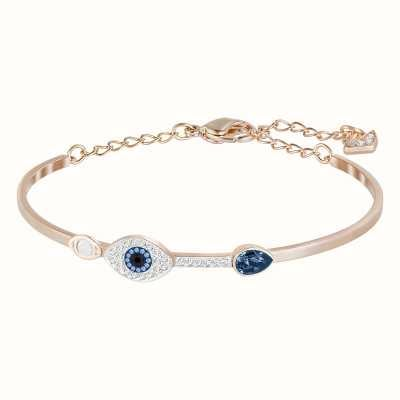 Swarovski Symbolic | Blue Mixed Metal Finish| Evil Eye | Ladies Bangle 5171991