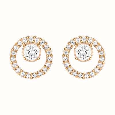 Swarovski Creativity | Rose-Gold Plated| Circle| White |Earrings 5199827
