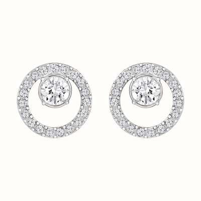 Swarovski Creativity | Rhodium Plated | Circle | White | Earrings 5201707