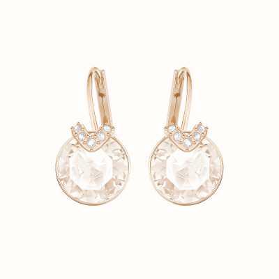 Swarovski Bella V | Rose-Gold Plated | Pink | Drop Earrings 5299318