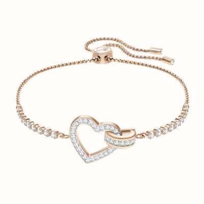 Swarovski Lovely | Rose-Gold Plated | Heart and Circle | Bracelet 5368541