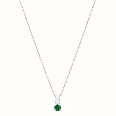 Swarovski Attract Trilogy | Rhodium Plated | Green |Round |Necklace 5416153