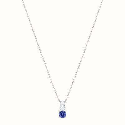 Swarovski Attract Trilogy | Rhodium Plated | Blue | Round | Necklace 5416156