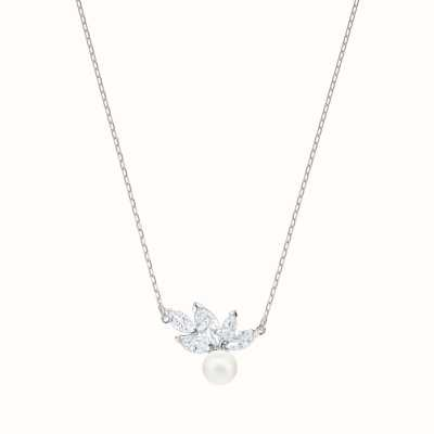 Swarovski Louison | Rhodium Plated | White | Pearl |Necklace 5422685