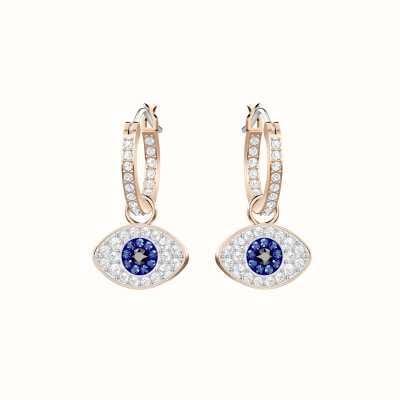 Swarovski Symbolic | Rose-Gold Plated | Evil Eye | Hooped Earrings 5425857