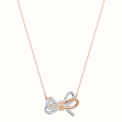 Swarovski Lifelong |Mixed Metal Finish |White | Bow | Necklace 5440636