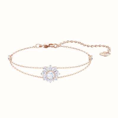 Swarovski Sunshine   Rose-Gold Plated   White   Ladies Bracelet 5451357