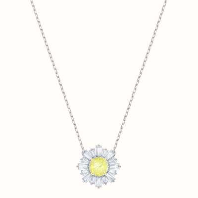 Swarovski Sunshine | Rhodium Plated | Yellow | Necklace 5459588