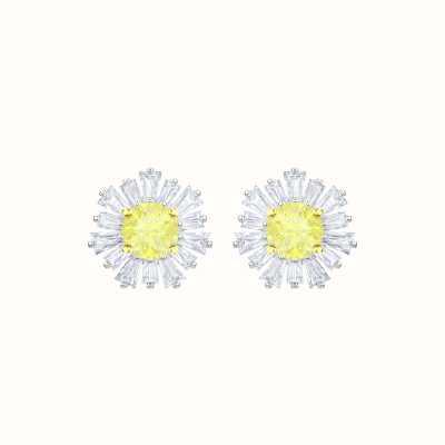 Swarovski Sunshine  Rhodium plated   White  Yellow   Earrings 5459591