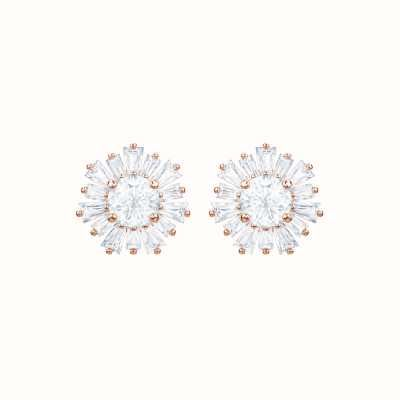 Swarovski Sunshine | Rose-Gold tone |White|Stud | Earrings 5459597