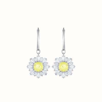 Swarovski Sunshine  Rhoduim Plated  White  yellow  Dangling  Earrings 5479914