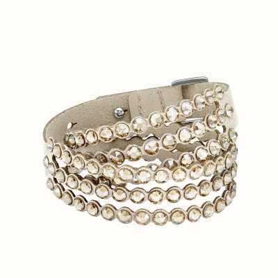 Swarovski Power Collection | Slake Bracelet | Alcantara Fabric | Gold 5494230