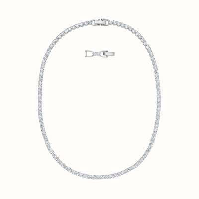 Swarovski Tennis |Rhodium Plated | White |Deluxe |Necklace 5494605
