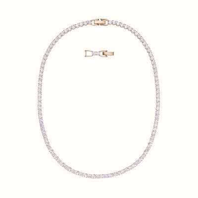 Swarovski Tennis |Rose-Gold Plated | White | Deluxe |Necklace 5494607