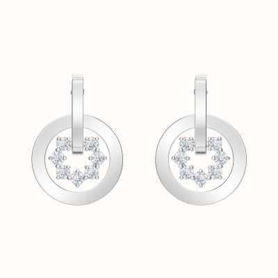 Swarovski Further |Rhodium plated | White | Drop |Cirlce | Earrings 5499002
