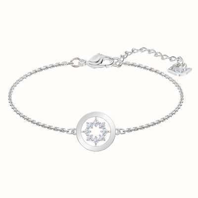 Swarovski Further  Rhodium plated White  Circle  Bracelet 5499003