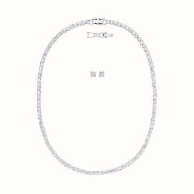 Swarovski Tennis| Rhodium plated | White | Deluxe |Necklace Set 5506861