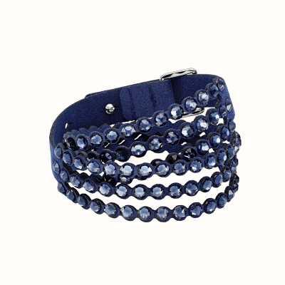 Swarovski Power  Blue   Double Wrap   Bracelet 5511697