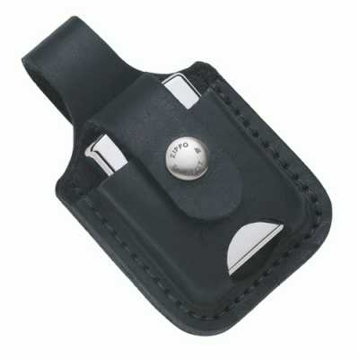 Zippo Lighter Pouch Black with Loop and Thumb Notch ZIPPO-LPTBK