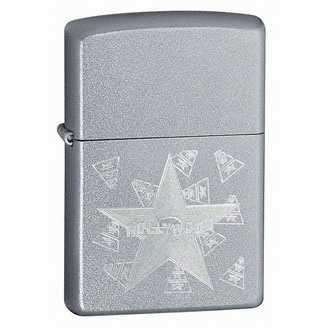 Zippo Hollywood Star Lighter Satin Chrome Finish ZIPPO-21037