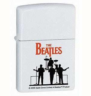 Zippo Beatles Silhouette Lighter White Matte ZIPPO-24060