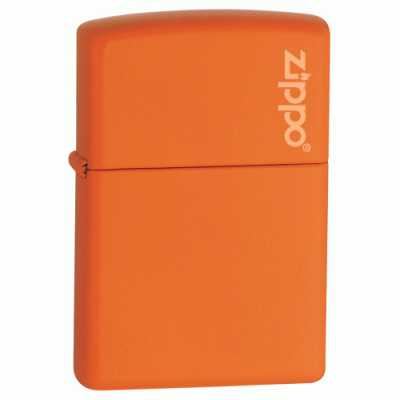 Zippo Orange Matte Regular Lighter with Zippo Logo ZIPPO-231ZL