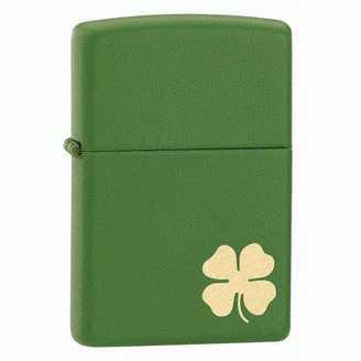 Zippo Shamrock Lighter Green Matte ZIPPO-21032